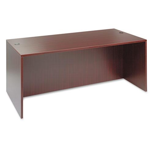 Alera Valencia Series Straight Front Desk Shell, 71w x 35.5d x 29.63h, Mahogany | by Plexsupply