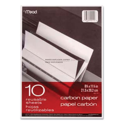 Carbon Paper, 1-Part, 8.5 x 11, Black Carbon, 10/Pack | by Plexsupply