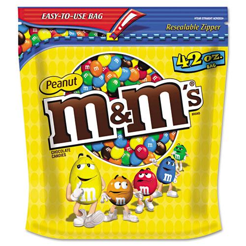 M & M's® Milk Chocolate Coated Candy w/Peanut Center, 42oz Pack