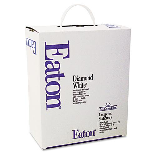 Continuous Feed Computer Paper, 1-Part, 20lb, 9.5 x 11, White, 1, 000/Carton