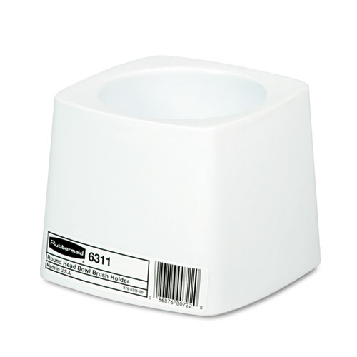 Holder for Toilet Bowl Brush, White Plastic