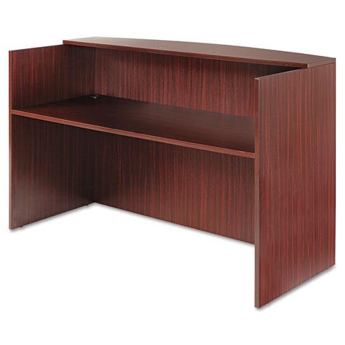 """Alera Valencia Series Reception Desk with Transaction Counter, 71"""" x 35.5"""" x 29.5"""" to 42.5"""", Mahogany"""