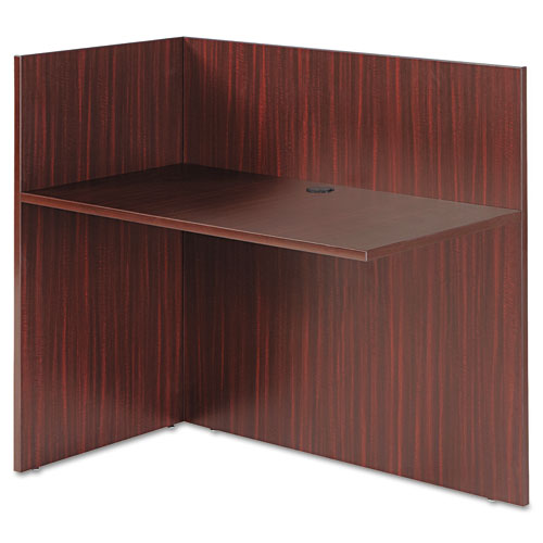 Alera Valencia Reversible Reception Return, 44 1/8w x 23 5/8d x 41 1/2h, Mahogany