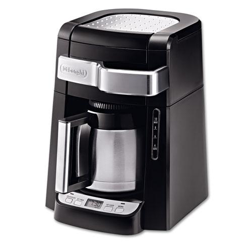 DeLONGHI 10-Cup Frontal Access Coffee Maker, Black