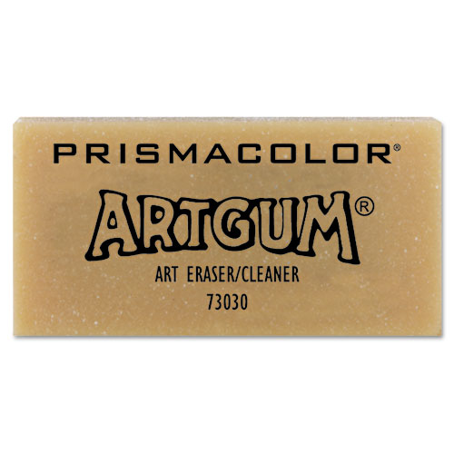 ARTGUM Eraser, Rectangular, Large, Off White, Kneaded Rubber, Dozen