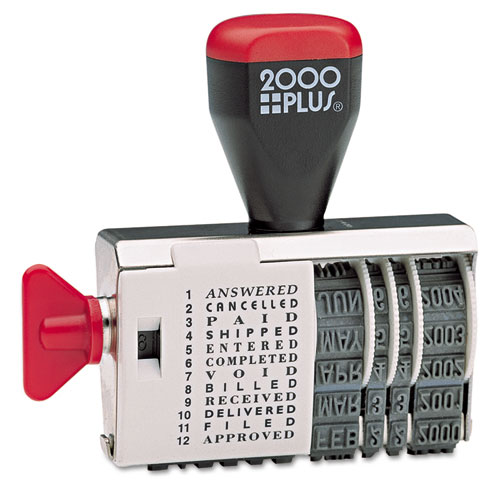 COSCO 2000PLUS® Dial-N-Stamp, 12 Phrases, 1 1/2 x 1/8