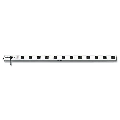 "Vertical Power Strip, 12 Outlets, 15 ft. Cord, 36"" Length 
