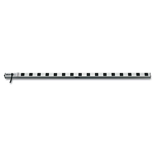 Vertical Power Strip, 16 Outlets, 15 ft. Cord, 48 Length