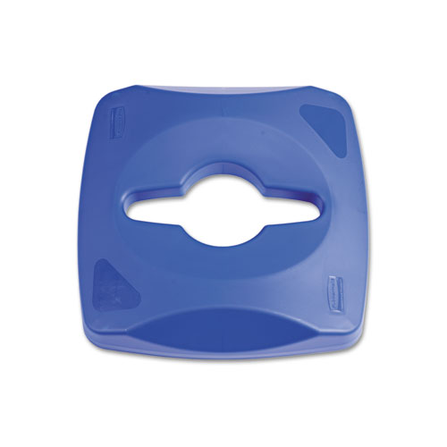 Untouchable Single Stream Recycling Top, 16.2w x 16.4d x 8.3h, Blue