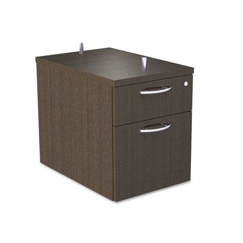 Alera® Alera Sedina Series Hanging Box/File Pedestal, 15 3/8w x 22d x 19h, Espresso