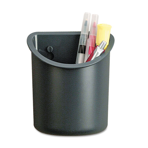 Recycled Plastic Cubicle Pencil Cup, 4 1/4 x 2 1/2 x 5, Charcoal | by Plexsupply
