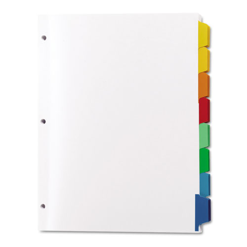 Print apply clear label dividers w color tabs 8 tab for Avery 8 tab clear label dividers template