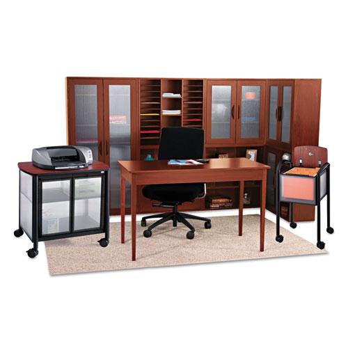 Safco® Après Open Bookcase, Three-Shelf, 29-3/4w x 11-3/4d x 29-3/4h, Cherry