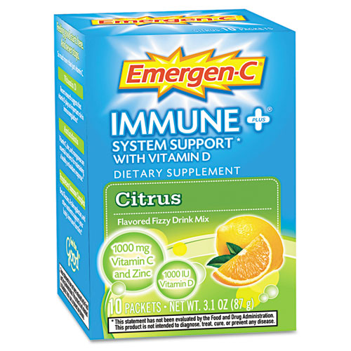Emergen-C® Immune+ Formula, .3oz, Blueberry Acai, 30/Pack