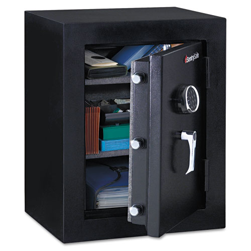 Executive Fire-Safe, 3.4 cu ft, 21.75w x 19d x 27.75h, Black | by Plexsupply