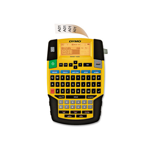 Rhino 4200 Basic Industrial Handheld Label Maker, 1 Line, 4.06 x 8.46 x 2.24