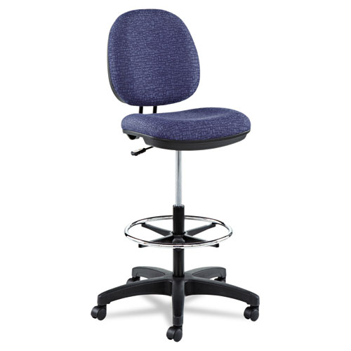 Alera Interval Series Swivel Task Stool, 33.26 Seat Height, Supports up to 275 lbs, Marine Blue Seat/Marine Blue Back