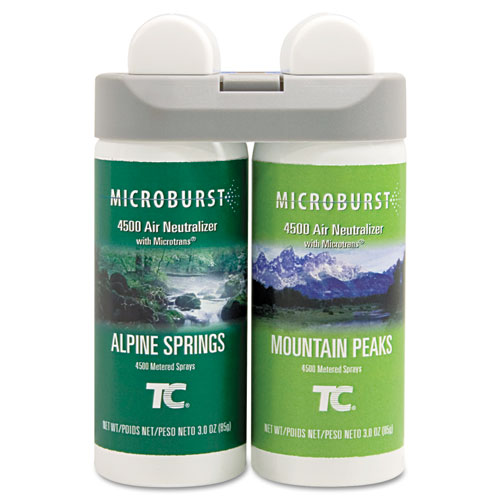 Microburst Duet Refills, Alpine Springs/Mountain Peaks, 3 oz, 4/Carton | by Plexsupply
