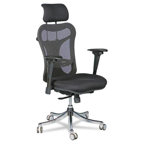 Ergo Ex Executive Office Chair, Mesh Back/Upholstered Seat, Black/Chrome 34434