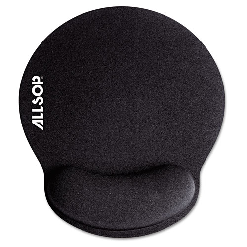MousePad Pro Memory Foam Mouse Pad with Wrist Rest, 9 x 10 x 1, Black | by Plexsupply