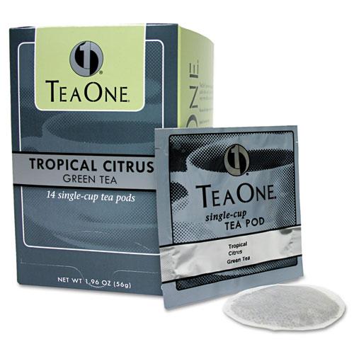 Tea Pods, Tropical Citrus Green, 14/Box