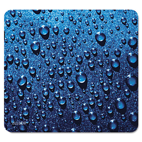 Naturesmart Mouse Pad, Raindrops Design, 8 1/2 x 8 x 1/10 | by Plexsupply