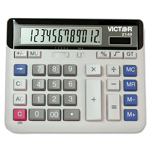 Victor® 2140 Desktop Business Calculator, 12-Digit LCD