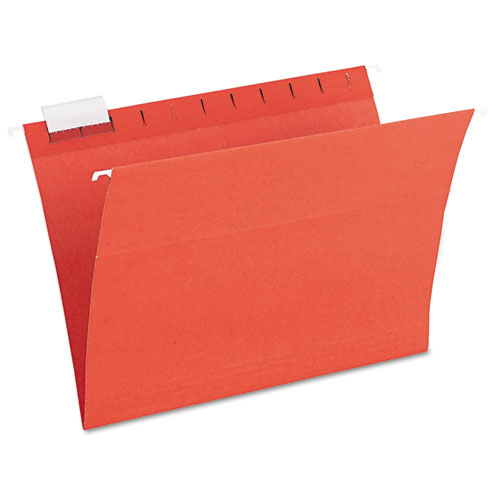 Earthwise Recycled Colored Hanging File Folders, 1/5Tab