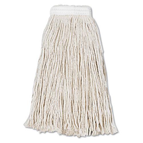 Cut-End Wet Mop Head, Cotton, #16, White, 12/Carton | by Plexsupply