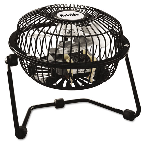 Mini High Velocity Personal Fan, One-Speed, Black