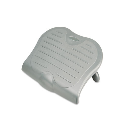 7195015909070, SKILCRAFT Kensington SoleSaver Ergonomic Adjustable Footrest, 18w x 14d x 2.5 to 4.5h, Gray