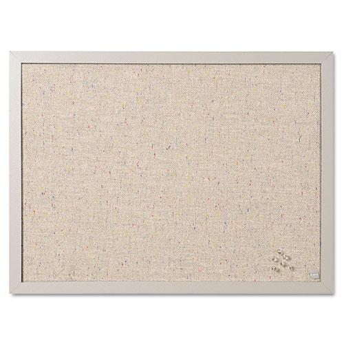 Designer Fabric Bulletin Board, 24X18, Gray Fabric/Gray Frame BVCFB0470608