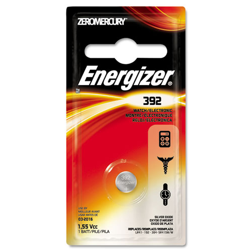 Energizer® 392 Silver Oxide Button Cell Battery, 1.5V