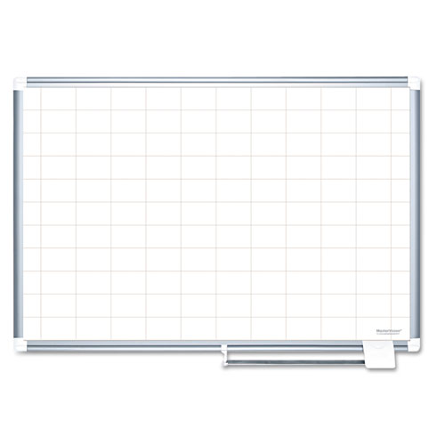 Grid Planning Board, 2 x 3 Grid, 72 x 48, White/Silver | by Plexsupply