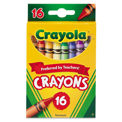 Classic Color Crayons, Peggable Retail Pack, 16 Colors