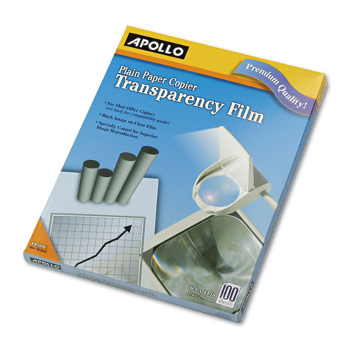 Plain Paper B/W Transparency Film, Letter, Clear, 100/Box | by Plexsupply