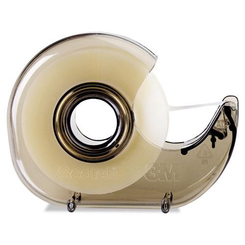 H127 Refillable Handheld Tape Dispenser, 1 Core, Plastic/Metal, Smoke