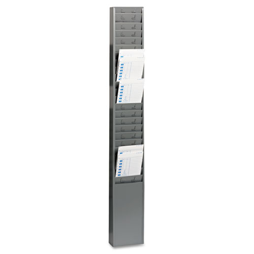 Steel Time Card Rack with Fixed 4-1/2 x 5 Pockets