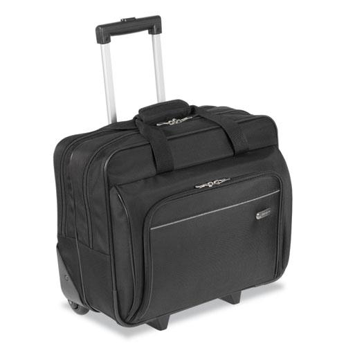 Targus® Rolling Laptop Case, 1200D Polyester, 16-1/2 x 7-1/2 x 14, Black