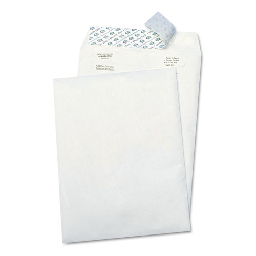 Catalog Mailers, DuPont Tyvek, #10 1/2, Cheese Blade Flap, Self-Adhesive Closure, 9 x 12, White, 100/Box | by Plexsupply