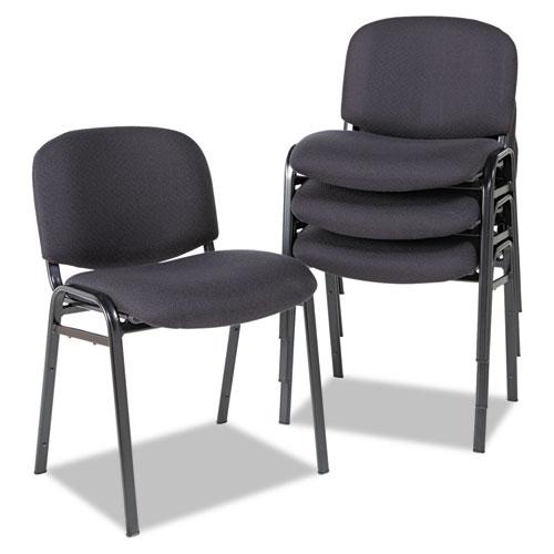 Alera Alera Continental Series Stacking Chairs Black