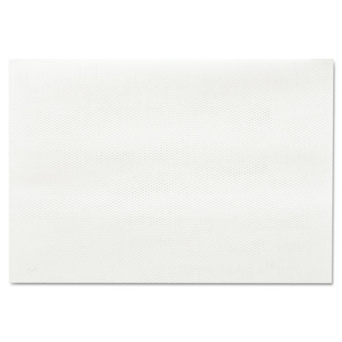 Masslinn Shop Towels, 12 x 17, White, 100/Pack, 12 Packs/Carton