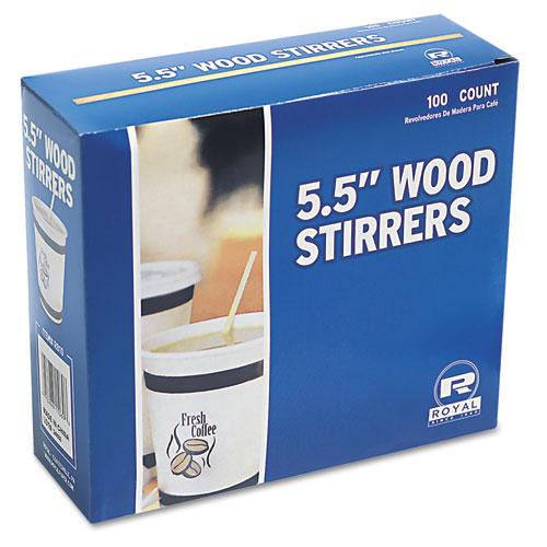 Wood Coffee Stirrers 5 1 2 Quot Long Woodgrain 1000