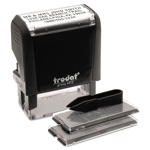 Self-Inking Do It Yourself Message Stamp, 3/4 x 1 7/8 | by Plexsupply