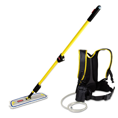 Flow Finishing System, 56 Handle, 18 Mop Head, Yellow