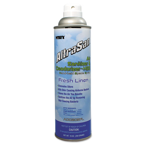 AltraSan Air Sanitizer and Deodorizer, Fresh Linen, 10 oz Aerosol Spray