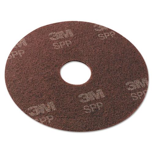 "Scotch-Brite™ Surface Preparation Pad, 17"" Diameter, Maroon, 10/Carton"