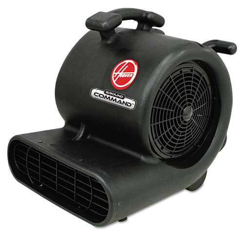 Hoover® Commercial Ground Command Super Heavy-Duty Air Mover, 12 A, 30lb, Black