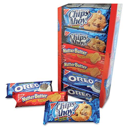 Nabisco® Variety Pack Cookies, Assorted, 1.75 oz Packs, 12 Packs/Box