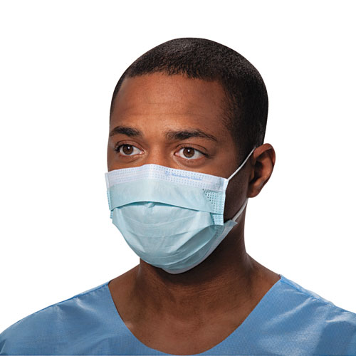 Kimberly-Clark Professional* Procedure Mask, Pleat-Style w/Ear Loops, Blue, 500/Carton